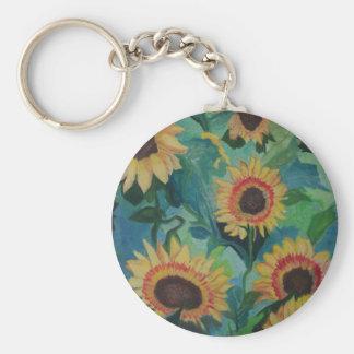 Sunflower Garden Keychain