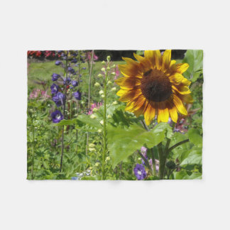 Sunflower Garden Patch Fleece Blanket