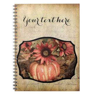 Sunflower Garden Spiral Notebook