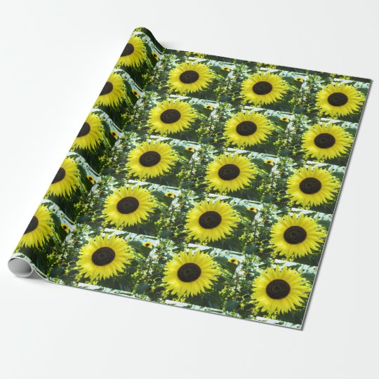 Sunflower Garden Wrapping Paper
