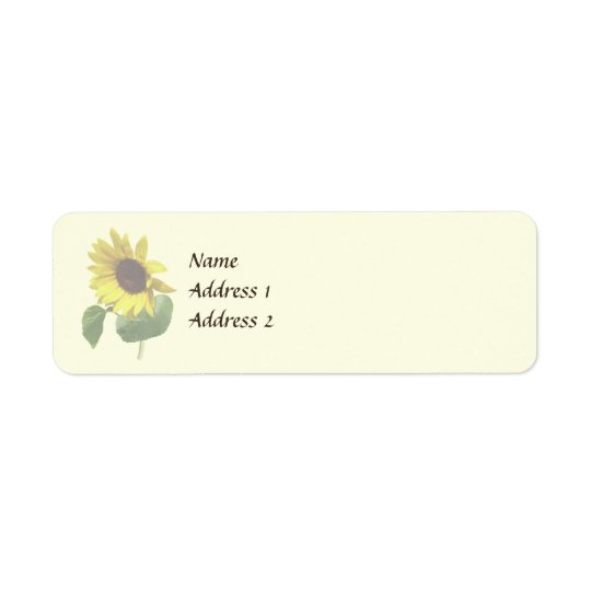 Sunflower Gazing Down Wedding Products Return Address Label