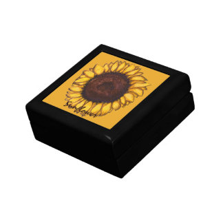 Sunflower Gift Box Custom Sunflower Jewelry Box