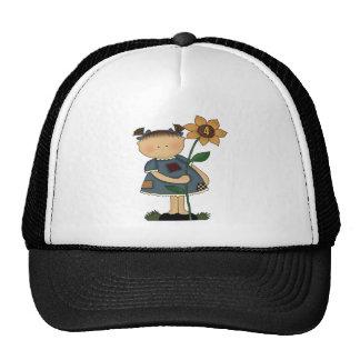 Sunflower Girl 4th Birthday Gifts Trucker Hat