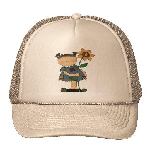Sunflower Girl 4th Birthday Gifts Mesh Hat