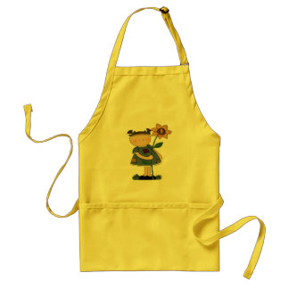 Sunflower Girl 9th Birthday Gifts Standard Apron