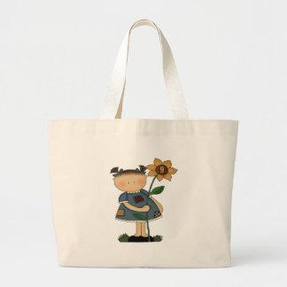 Sunflower Girl 9th Birthday Gifts Jumbo Tote Bag