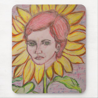Sunflower Girl Mouse Mat