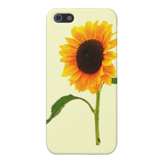 Sunflower Gives a Hand iPhone 5 Cases