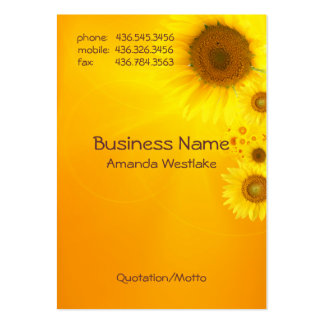 Sunflower Glow Pack Of Chubby Business Cards