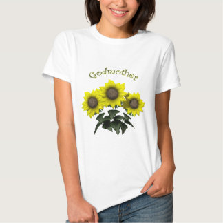 Sunflower Godmother Mothers Day Gifts T Shirt