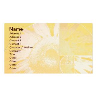 Sunflower Golden Ratio Business Card Templates