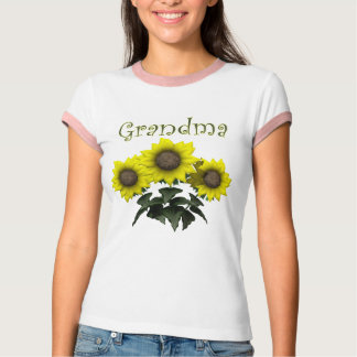 Sunflower Grandmother Mothers Day Gifts Tee Shirt
