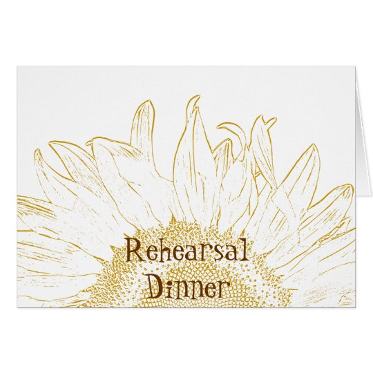 Sunflower Graphic Rehearsal Dinner Invitation Card