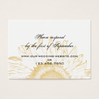 Sunflower Graphic Wedding RSVP Card