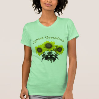 Sunflower Great Grandmother Mothers Day Gifts T-shirts