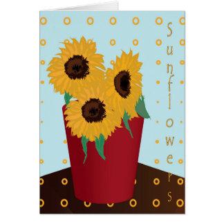 Sunflower Greeting Greeting Card