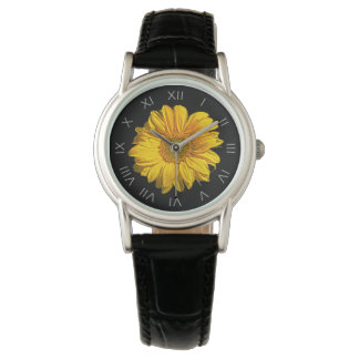 Sunflower Grey Roman Numbers Womens Watch