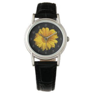 Sunflower Grey Script Numbers Womens Watch