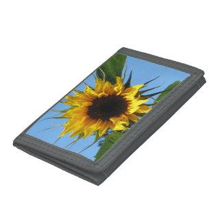Sunflower - Grey TriFold Nylon Wallet