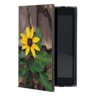 Sunflower growing from Cracked Mud Cover For iPad Mini