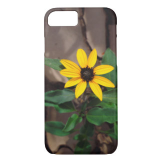 Sunflower growing from Cracked Mud iPhone 8/7 Case