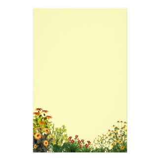 Sunflower Grunge Stationery