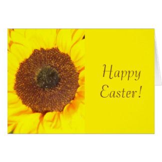 Sunflower Happy Easter Greeting Card
