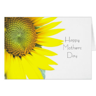 Sunflower Happy Mothers Day Cards