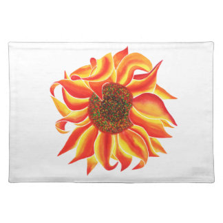 Sunflower head design placemat