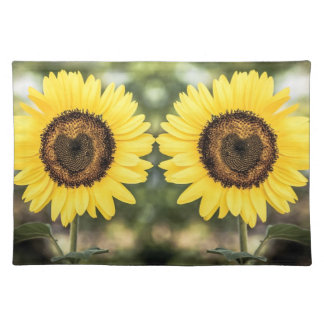 Sunflower hearts in love, tea towel placemat