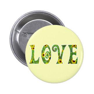 Sunflower Hippy Love 6 Cm Round Badge