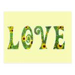 Sunflower Hippy Love Postcards