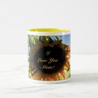 Sunflower,  I Love You Mom Mugs & Drinkware
