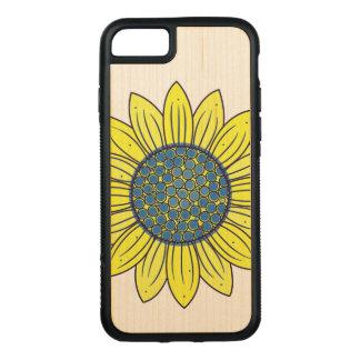 Sunflower Illustration Carved iPhone 8/7 Case