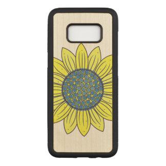 Sunflower Illustration Carved Samsung Galaxy S8 Case