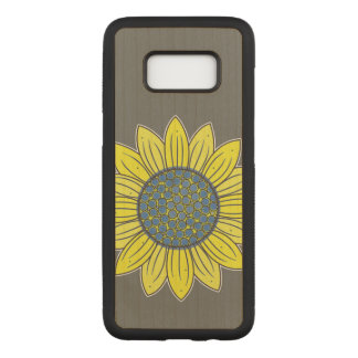 Sunflower Illustration Carved Samsung Galaxy S8 Case