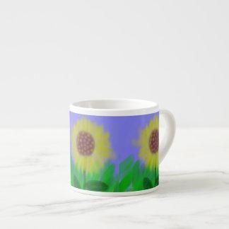Sunflower In A Cloudless Sky Espresso Mug 6 Oz Ceramic Espresso Cup