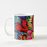 Sunflower in Pink Vase Coffee Mugs
