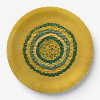 "Sunflower in Spring 9"" Paper Plate"