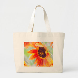 sunflower in the garden large tote bag