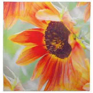 sunflower in the garden napkin