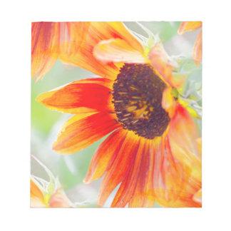 sunflower in the garden notepad