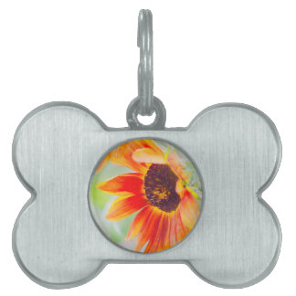 sunflower in the garden pet name tag