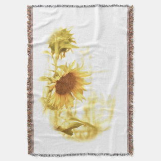 Sunflower in the Light Cotton Throw