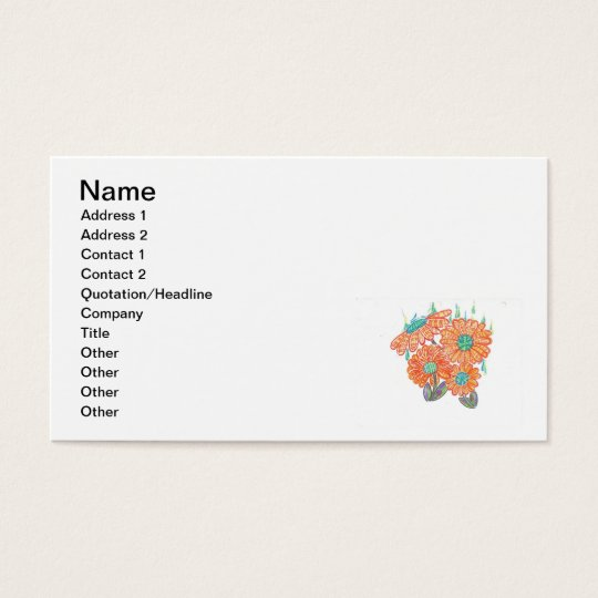 Sunflower in the rain business card