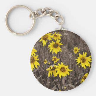Sunflower in the Rocky Mountain Keychain