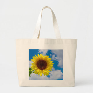 Sunflower in the Sky Large Tote Bag