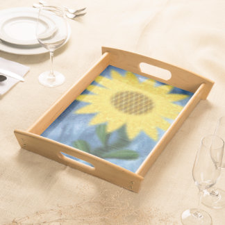 Sunflower In The Sky Serving Tray