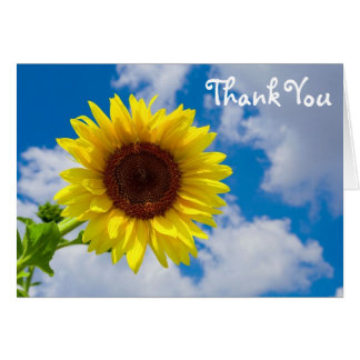 Sunflower in the Sky, Thank You Card