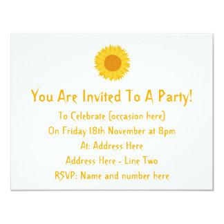 Sunflower. Personalized Invites